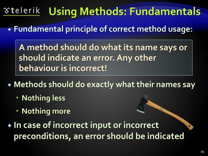 Using Methods: Fundamentals