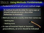 using methods fundamentals