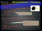 wrong methods examples