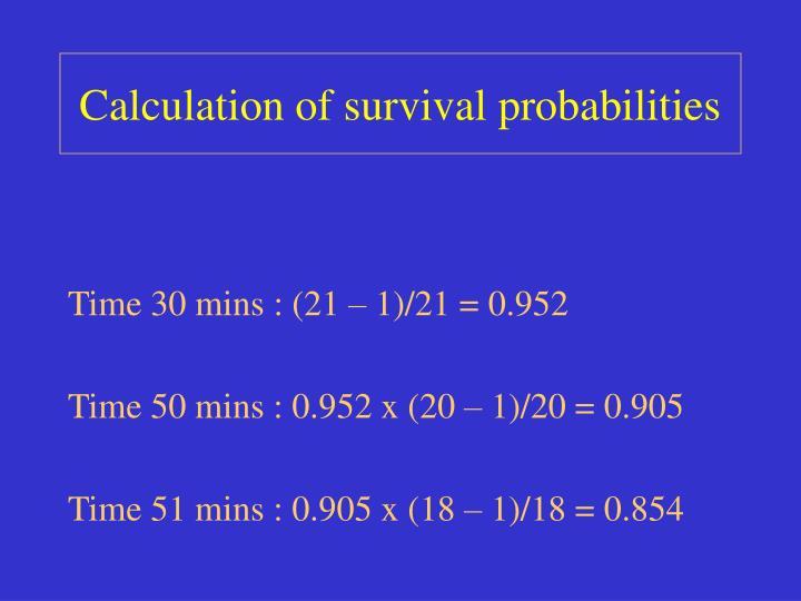 Calculation of survival probabilities