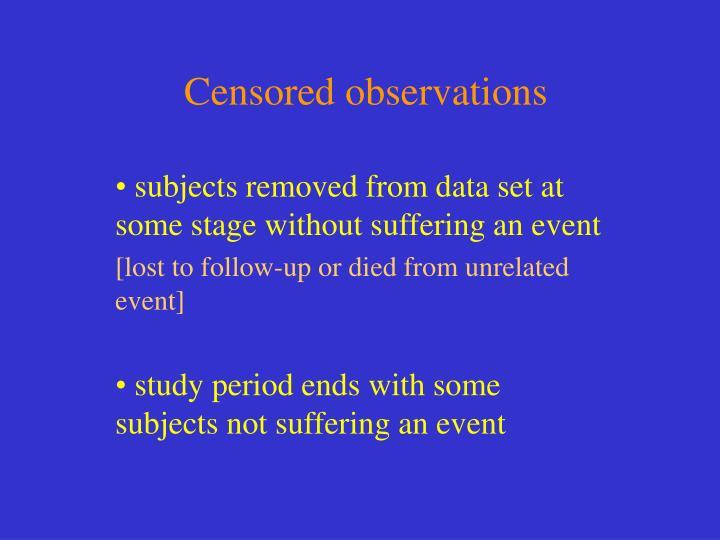 Censored observations