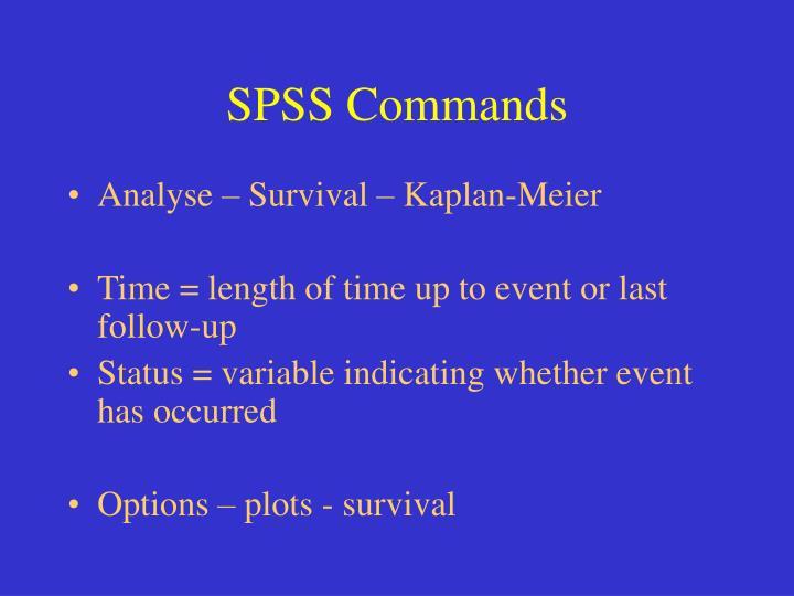 SPSS Commands