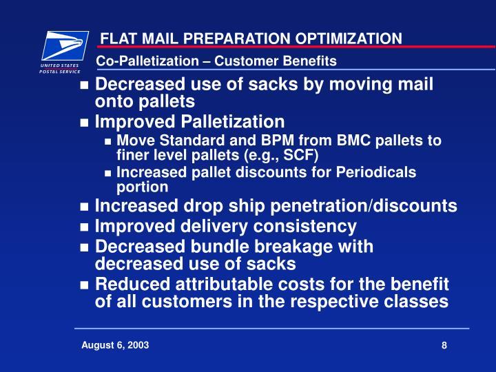 Co-Palletization – Customer Benefits