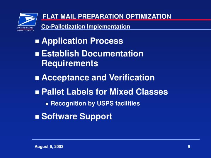 Co-Palletization Implementation