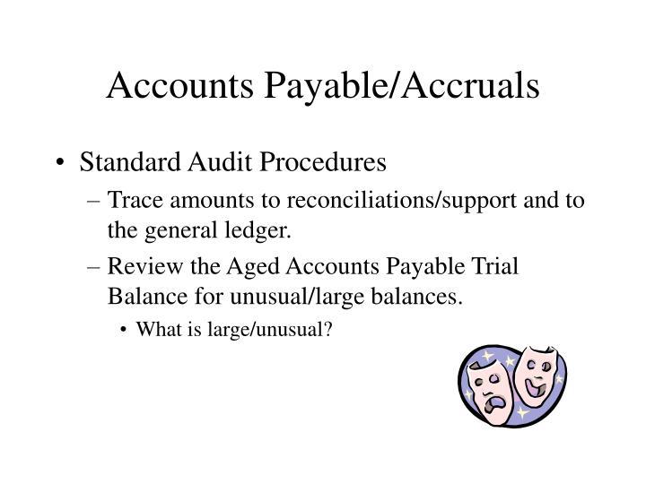 Accounts Payable/Accruals