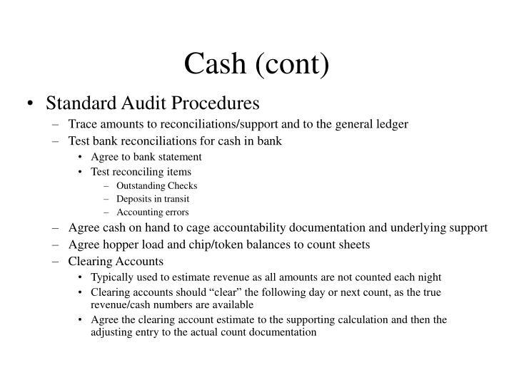 Standard Audit Procedures