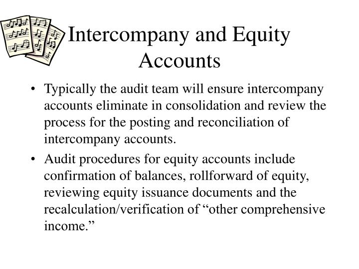 Intercompany and Equity Accounts