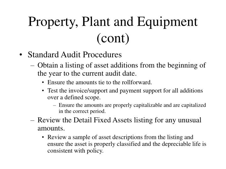 Property, Plant and Equipment (cont)