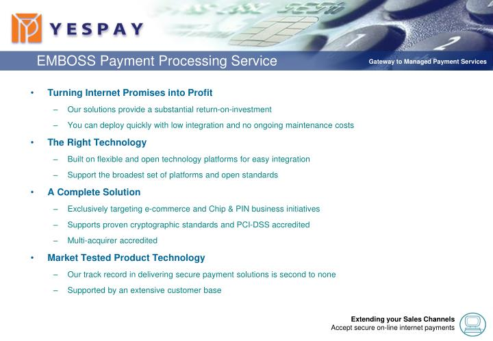 EMBOSS Payment Processing Service