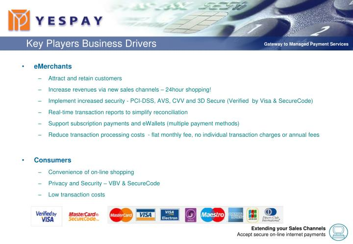 Key Players Business Drivers