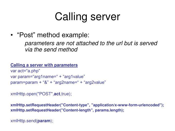 Calling server