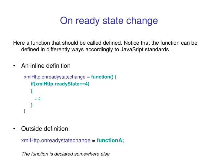 On ready state change