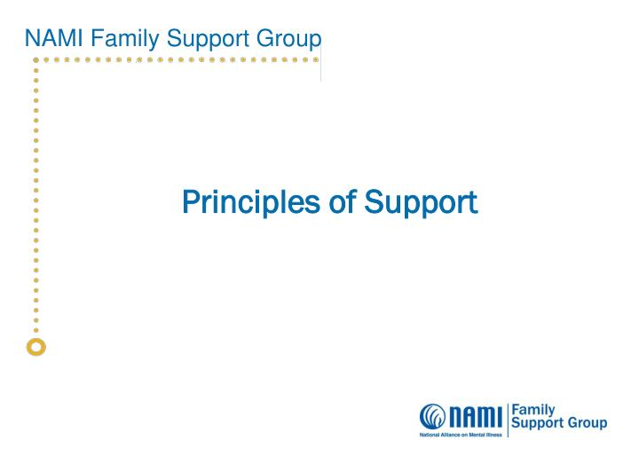 Principles of Support