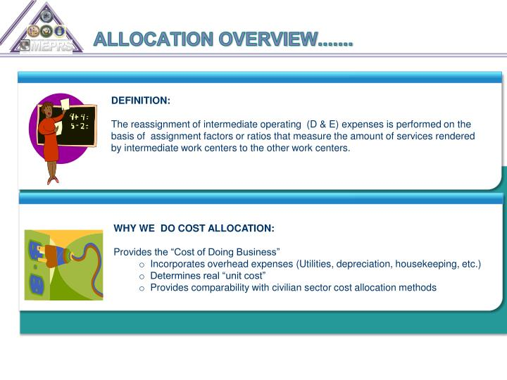ALLOCATION OVERVIEW.......