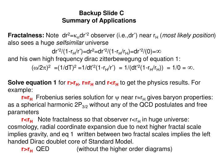 Backup Slide C