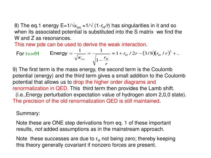 8) The eq.1 energy E=1/√