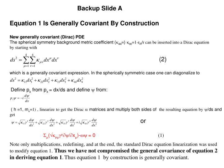 Backup Slide A