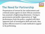 the need for partnership