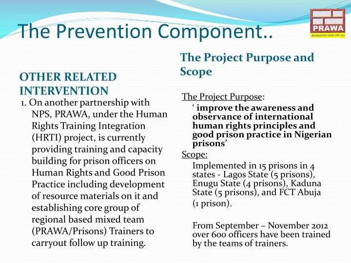 The Prevention Component..
