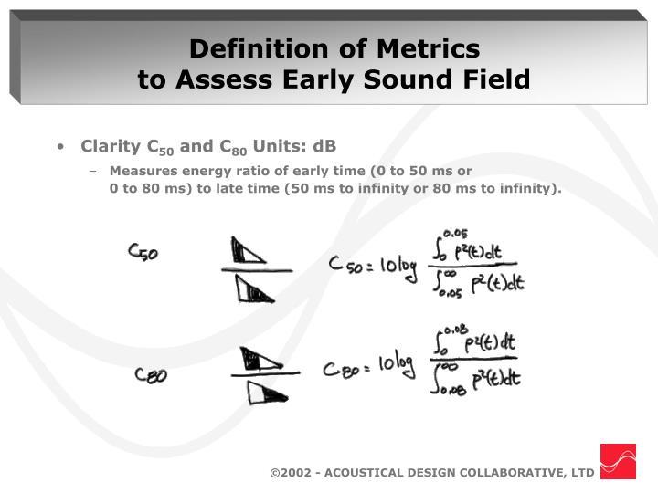 Definition of Metrics