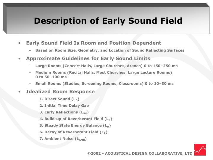 Description of Early Sound Field