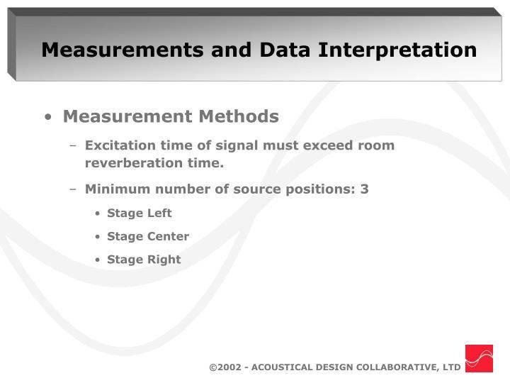 Measurements and Data Interpretation