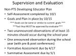 supervision and evaluation3