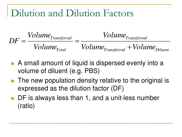 Dilution and Dilution Factors