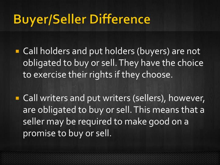 Buyer/Seller Difference