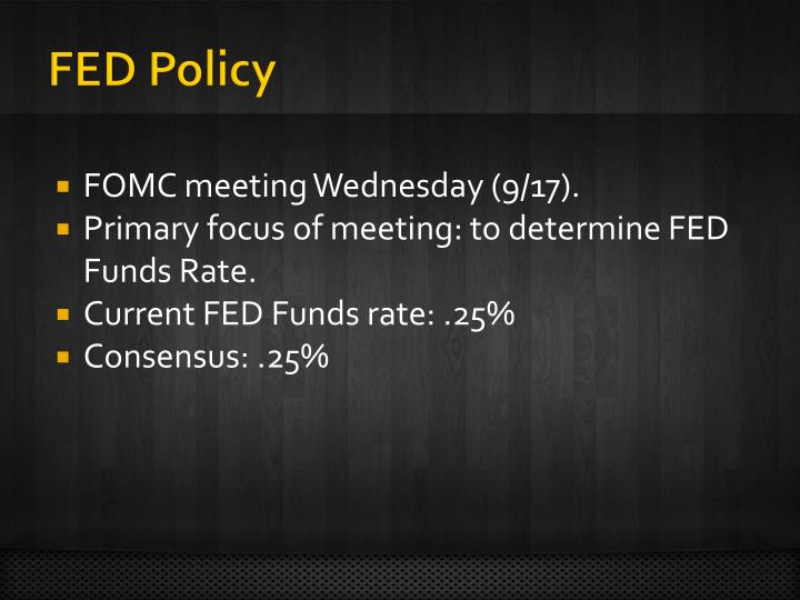 FED Policy