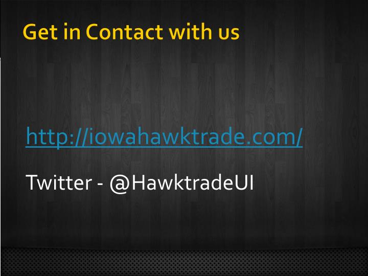 Get in Contact with us