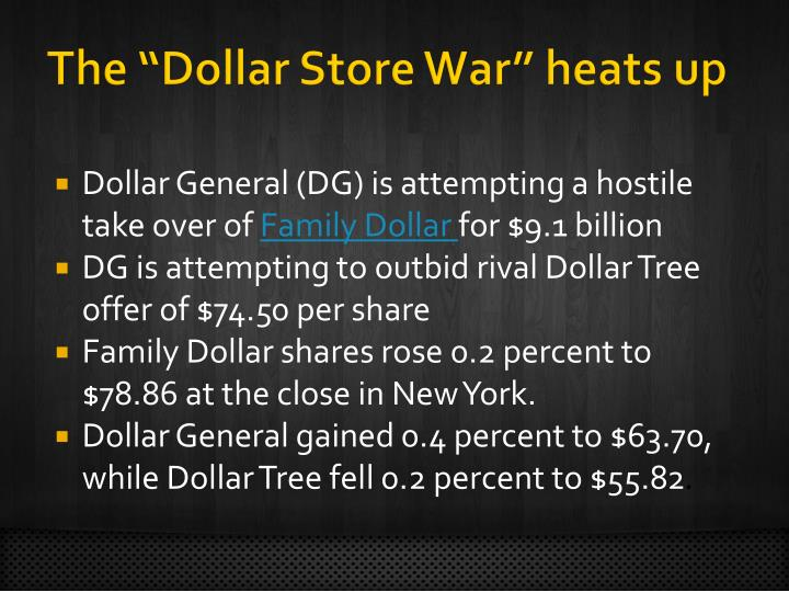 """The """"Dollar Store War"""" heats up"""