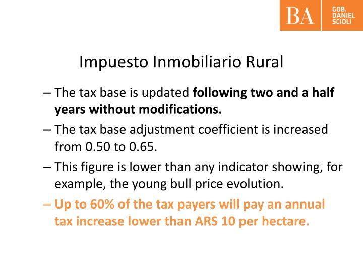 Impuesto Inmobiliario Rural