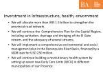 inverstment in infraestructure health envornment
