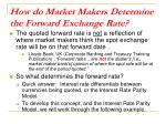 how do market makers determine the forward exchange rate