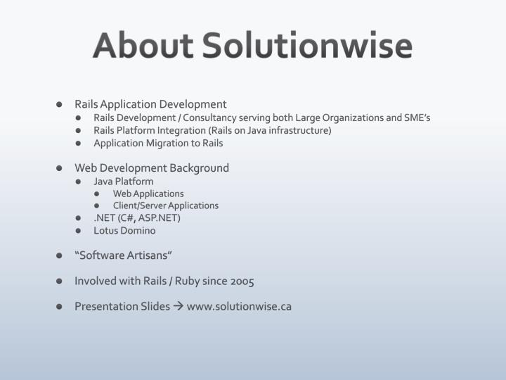 About solutionwise