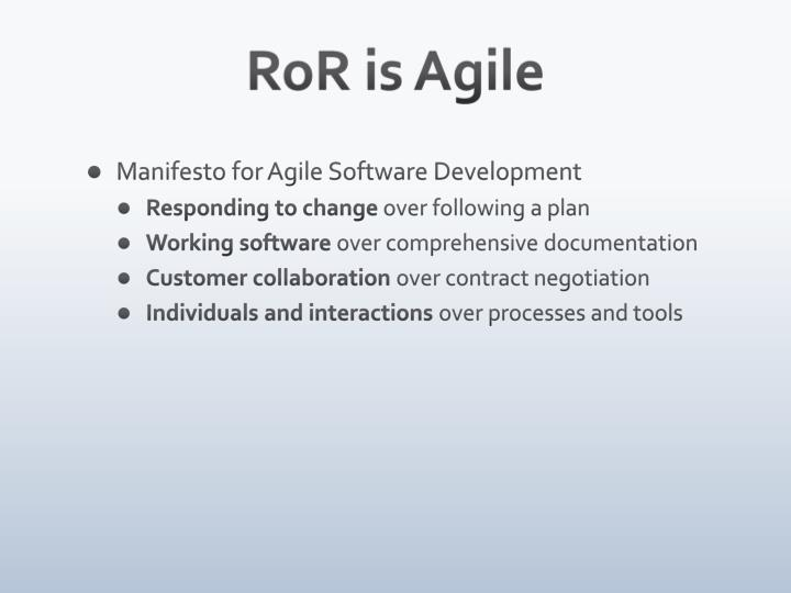 RoR is Agile