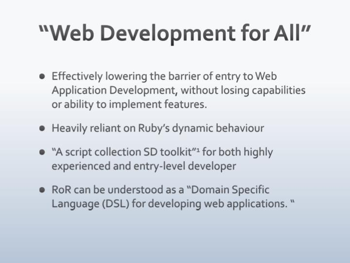 """Web Development for All"""