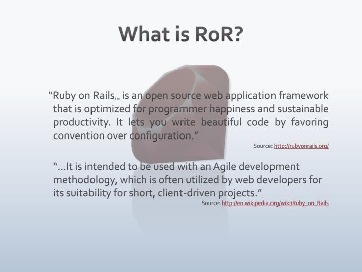 What is RoR?