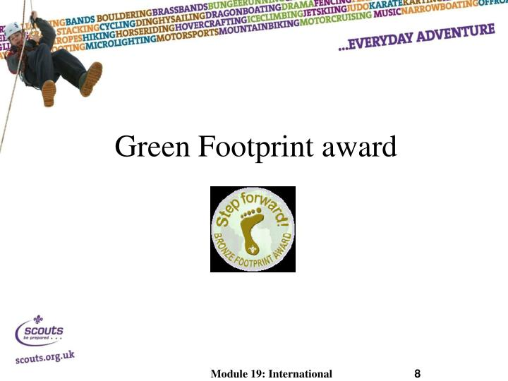 Green Footprint award