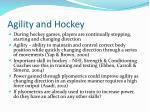 agility and hockey
