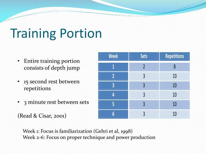 Training Portion