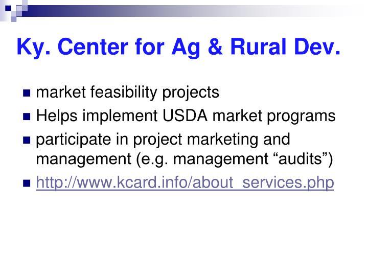 Ky. Center for Ag & Rural Dev.