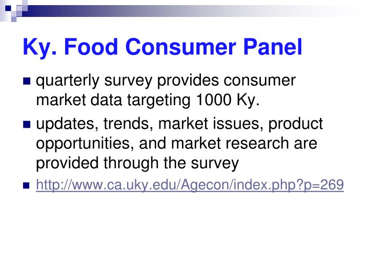 Ky. Food Consumer Panel