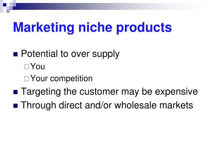 Marketing niche products