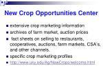 new crop opportunities center