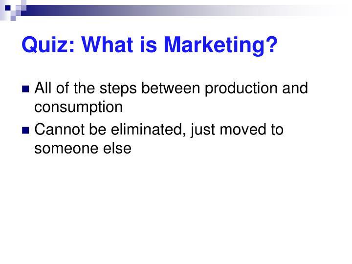 Quiz: What is Marketing?