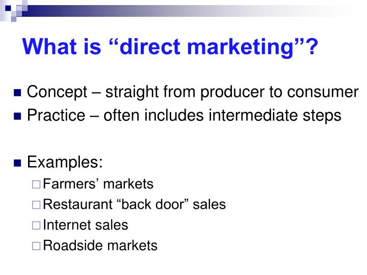 """What is """"direct marketing""""?"""