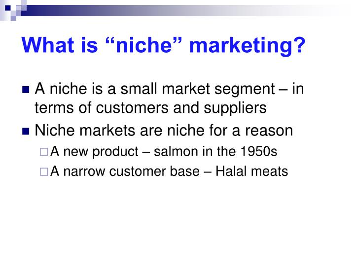 """What is """"niche"""" marketing?"""