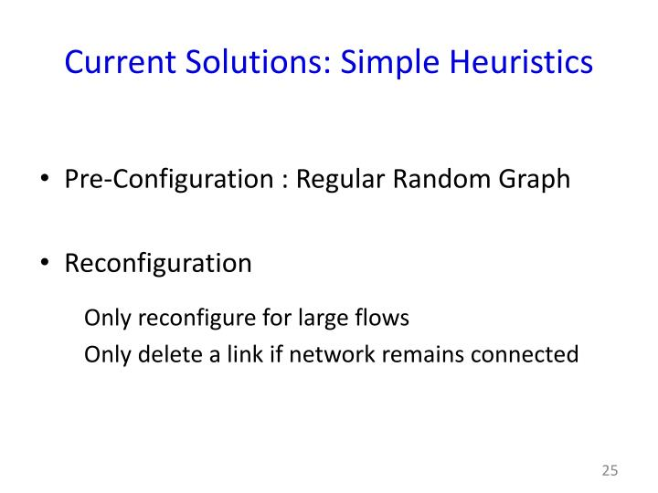 Current Solutions: Simple Heuristics